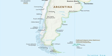 Local Time Puerto Madryn Argentina - Argentina map puerto madryn