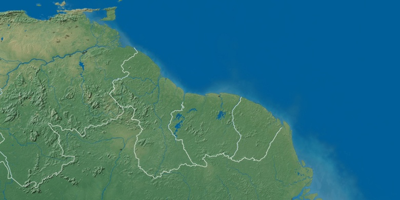 Kourou on map