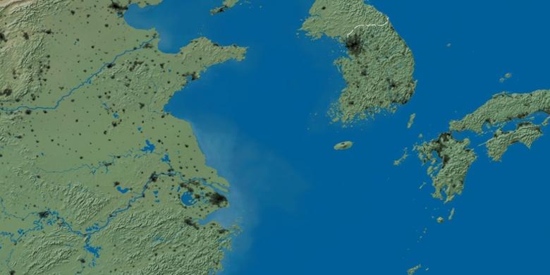 Jeonju on map