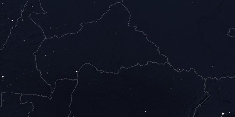 Bangassou on map