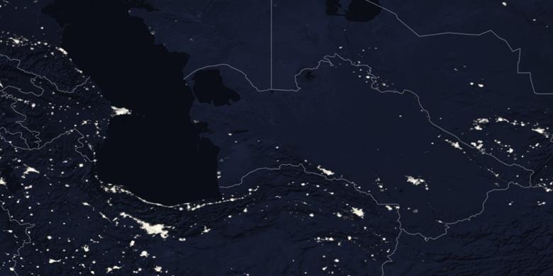 Balkanabat on map