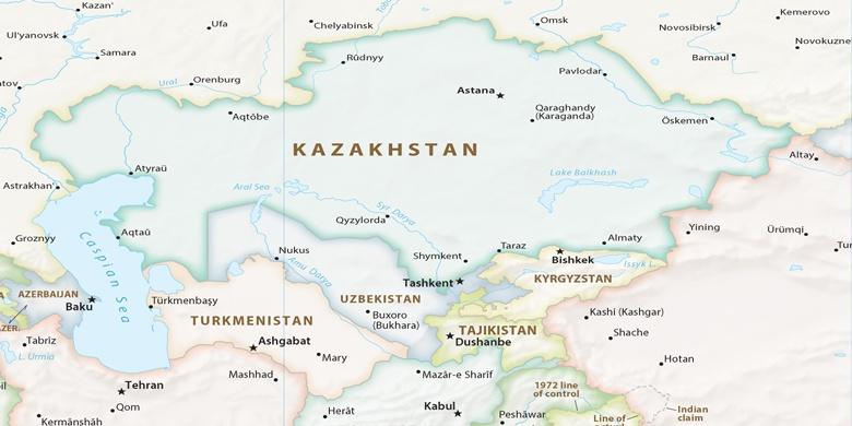 Dashoguz on map