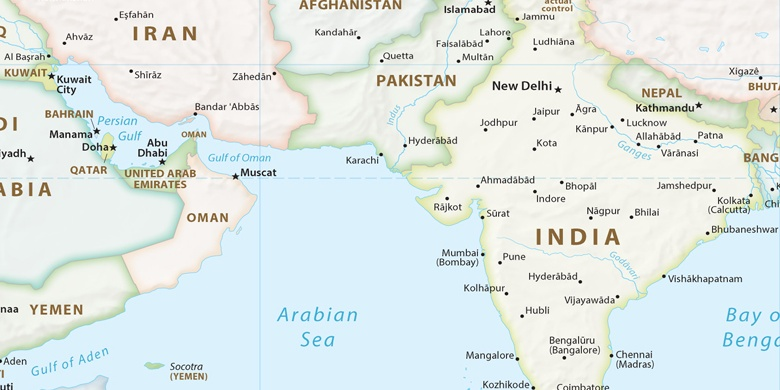 Ahmedabad on map