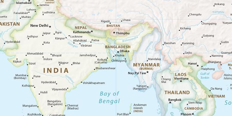 Thimphu on map