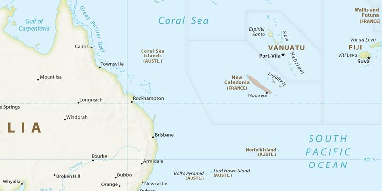 Suva on map