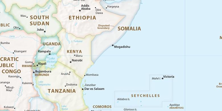 Eldoret on map