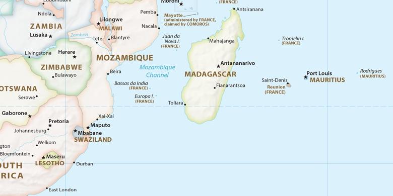 Toliara on map
